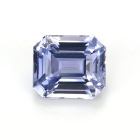 2.03ct Ceylon Emerald Cut Purplish Blue Sapphire - B12576