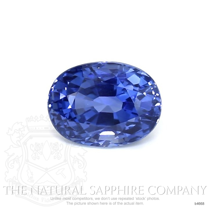 Natural Untreated Blue Sapphire B4668 Image