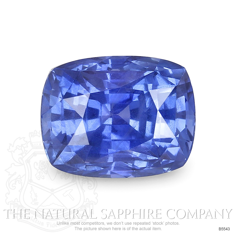 Natural Untreated 6.75 ct Cushion Blue Sapphire B5543 Image