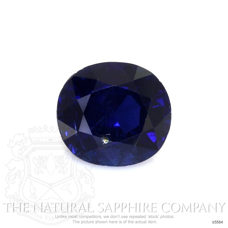 Natural Untreated Blue Sapphire B5584 Image