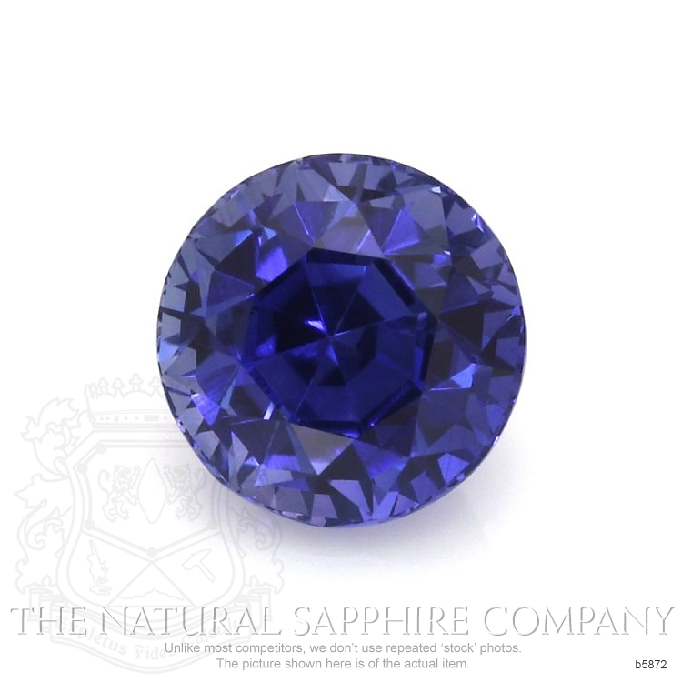 Natural Untreated Blue Sapphire B5872 Image