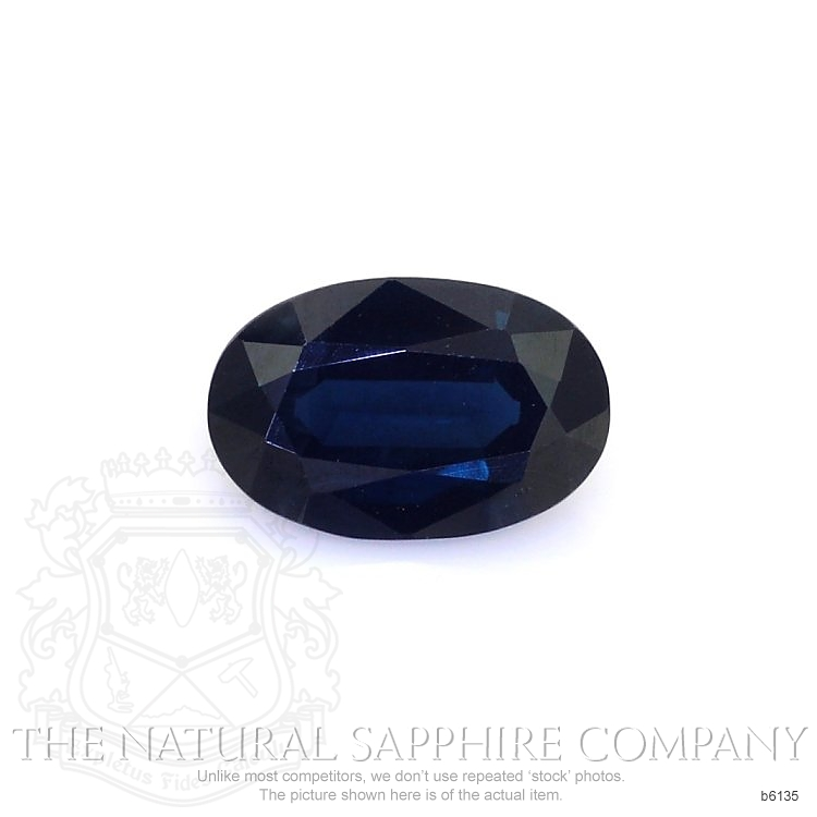 Natural Untreated Blue Sapphire B6135 Image