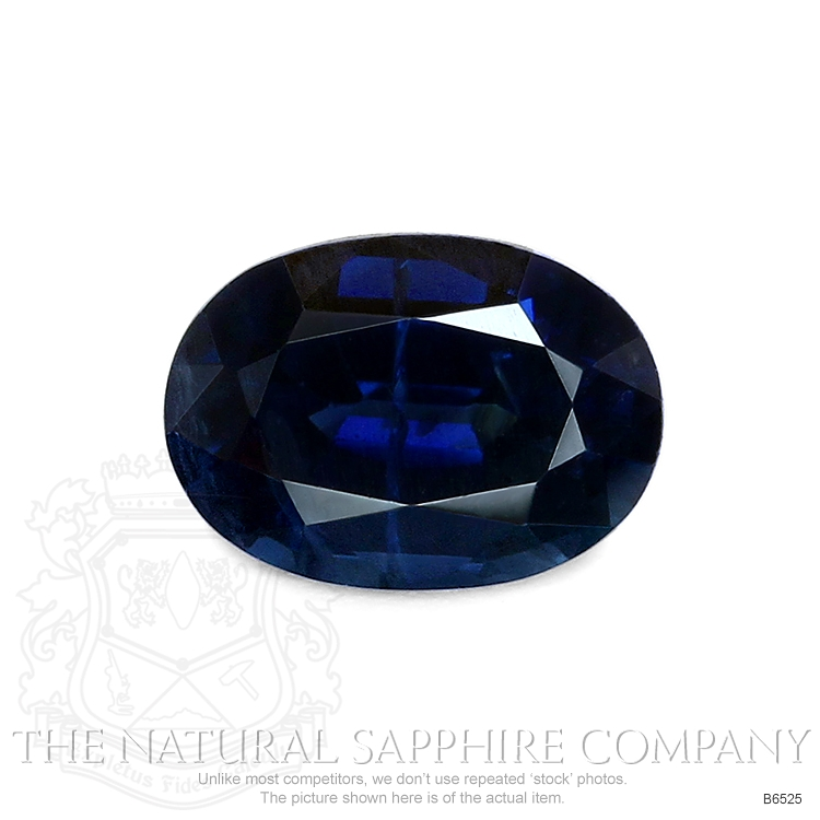 Natural Untreated Blue Sapphire B6525 Image