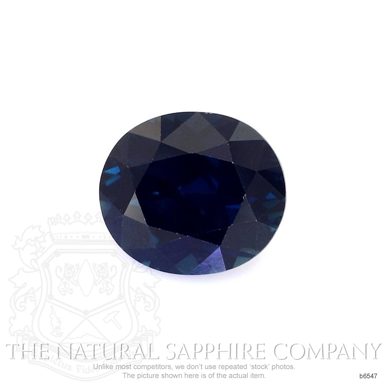 Natural Untreated Blue Sapphire B6547 Image