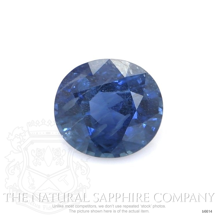Natural Untreated Blue Sapphire B6614 Image