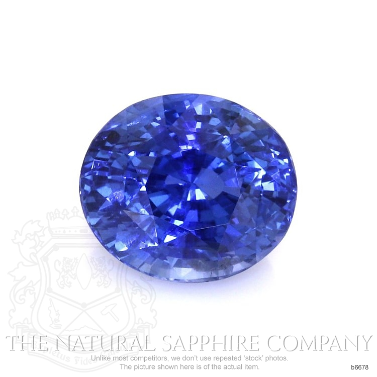 Natural Untreated Blue Sapphire B6678 Image