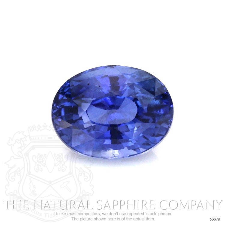 Natural Untreated Blue Sapphire B6679 Image