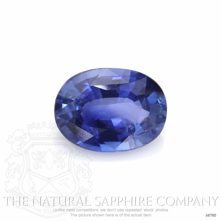 Natural Untreated Blue Sapphire B6760 Image