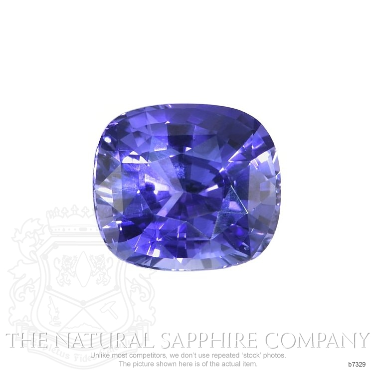 Natural Untreated Bluish Purple Sapphire B7329 Image