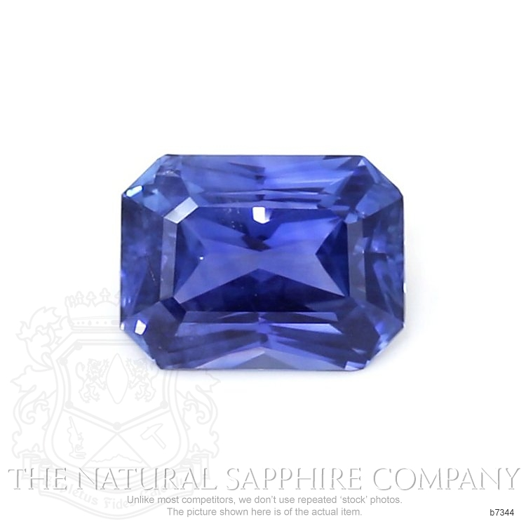 Natural Untreated Blue Sapphire B7344 Image