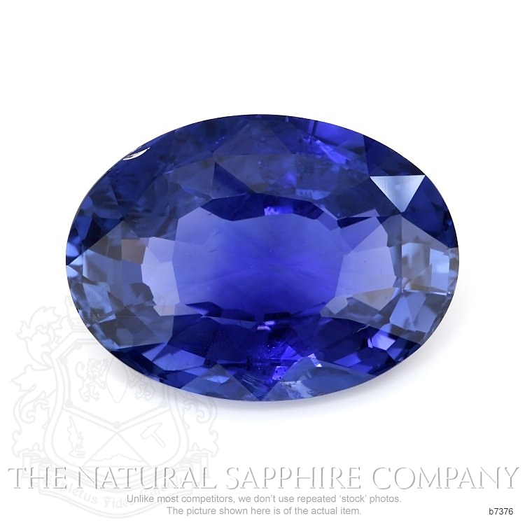 Natural Untreated Blue Sapphire B7376 Image