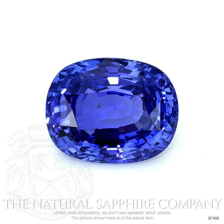 Natural Untreated Blue Sapphire B7495 Image