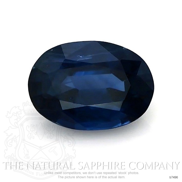 Natural Untreated Blue Sapphire B7496 Image