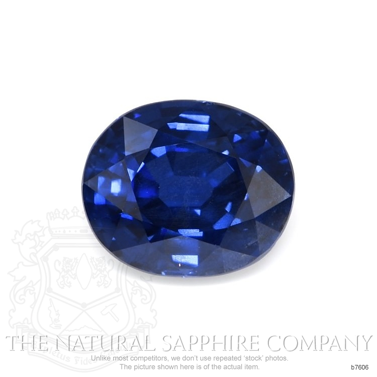 Natural Untreated Blue Sapphire B7606 Image