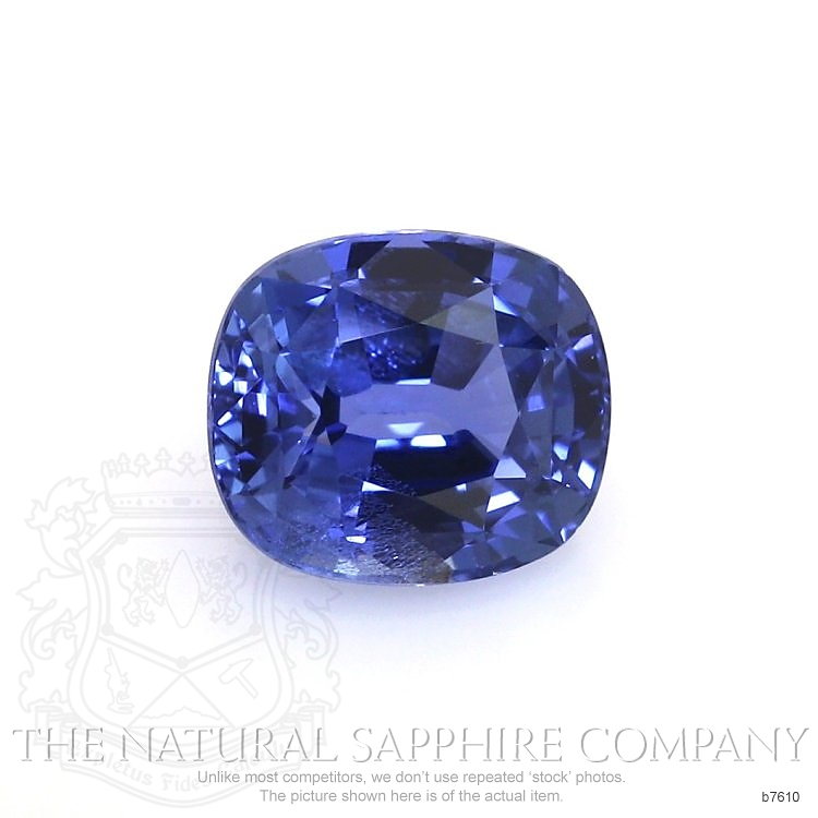 Natural Untreated Blue Sapphire B7610 Image
