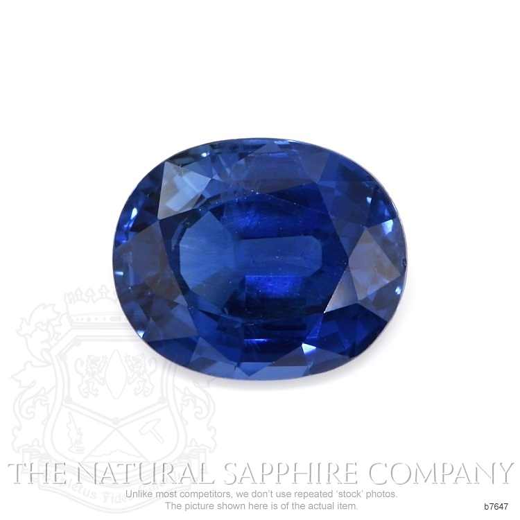 Natural Untreated Blue Sapphire B7647 Image