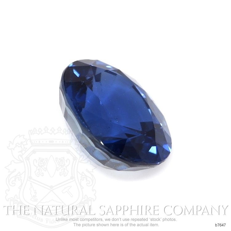 Natural Untreated Blue Sapphire B7647 Image 3
