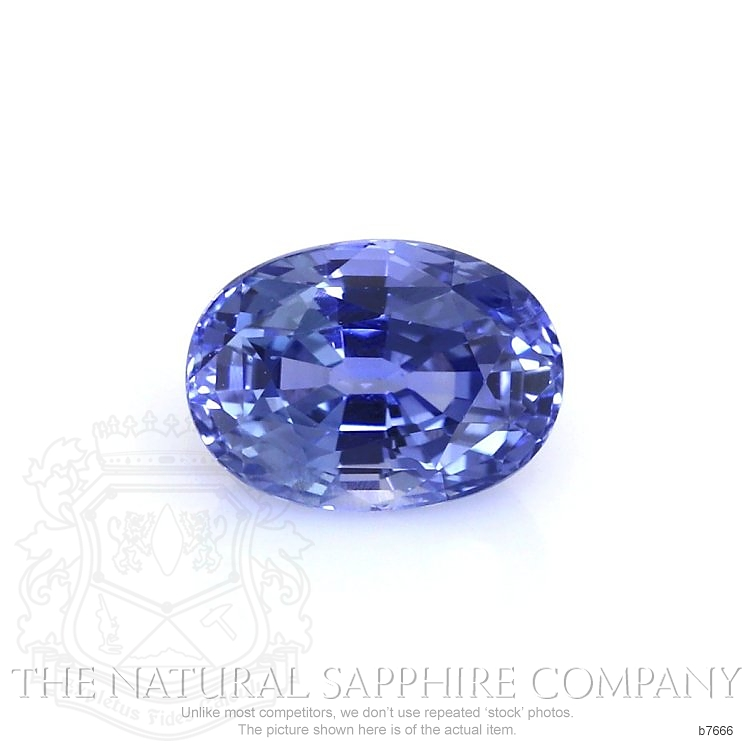 Natural Untreated Blue Sapphire B7666 Image