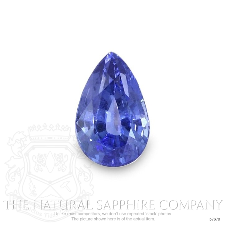 Natural Untreated Blue Sapphire B7670 Image