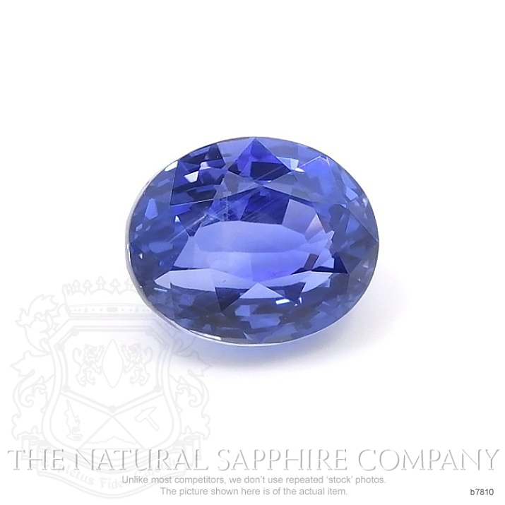 Natural Untreated Blue Sapphire B7810 Image