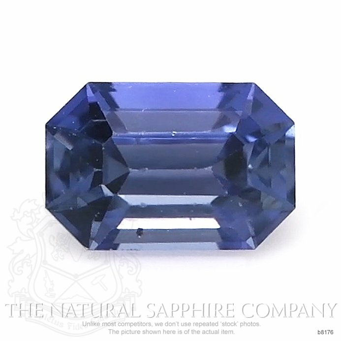 Natural Untreated Blue Sapphire B8176 Image