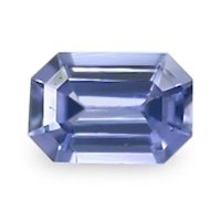 0.57ct Ceylon Emerald Cut Purplish Blue Sapphire - B8182