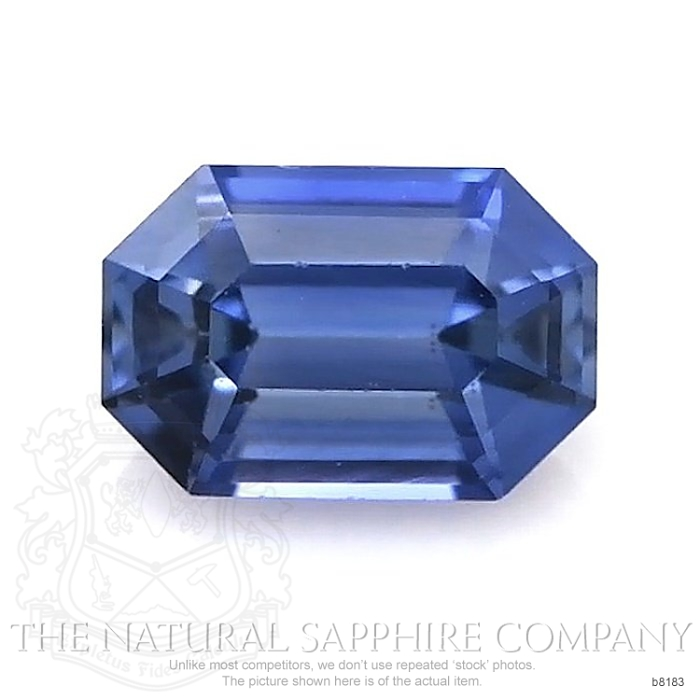 Natural Untreated Blue Sapphire B8183 Image