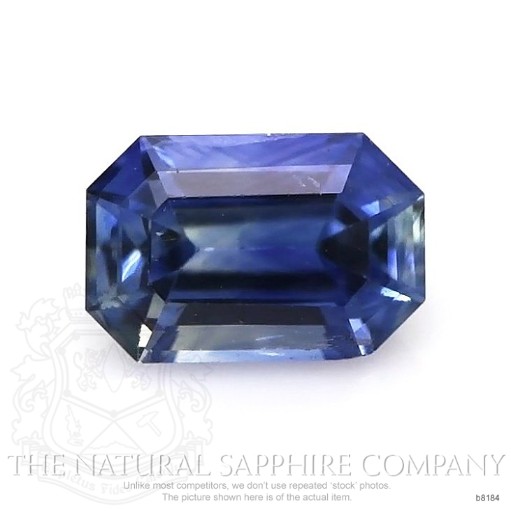 Natural Untreated Blue Sapphire B8184 Image