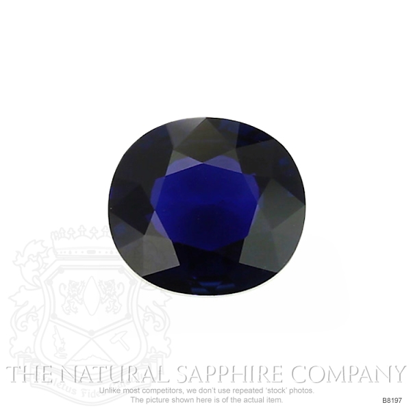 Natural Untreated Blue Sapphire B8197 Image