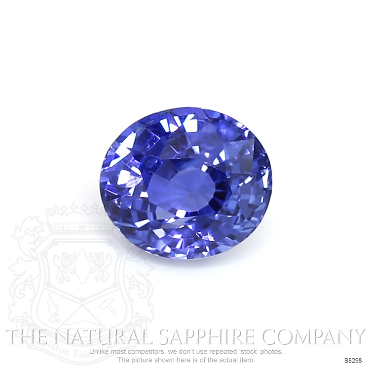 Natural Untreated Blue Sapphire B8298 Image