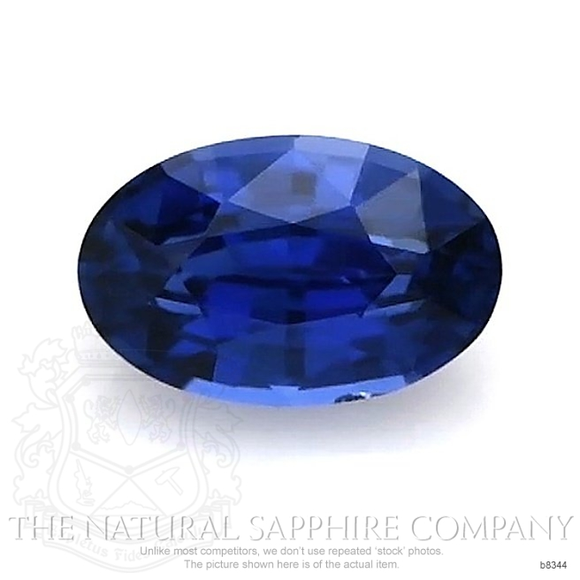 Natural Untreated Blue Sapphire B8344 Image