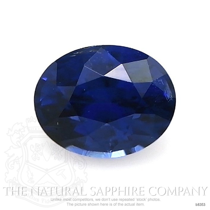 Natural Untreated Blue Sapphire B8353 Image