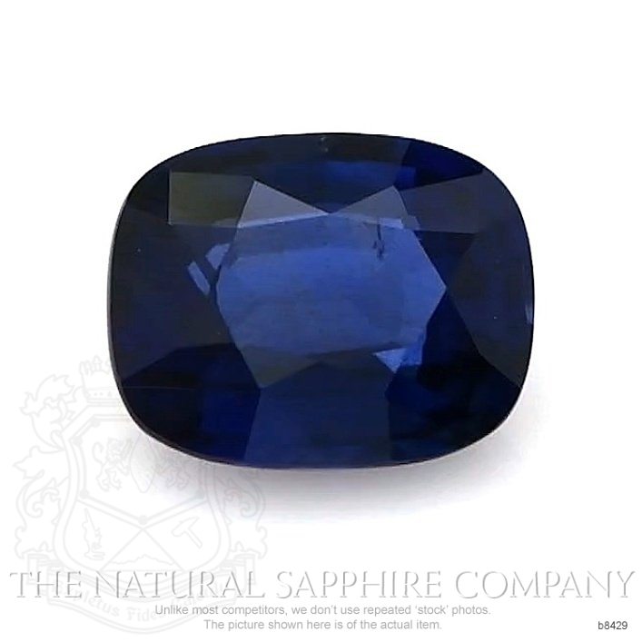 Natural Untreated Blue Sapphire B8429 Image