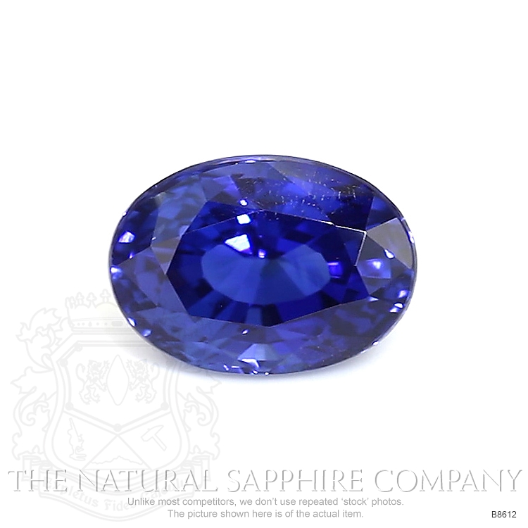 Natural Untreated Blue Sapphire B8612 Image