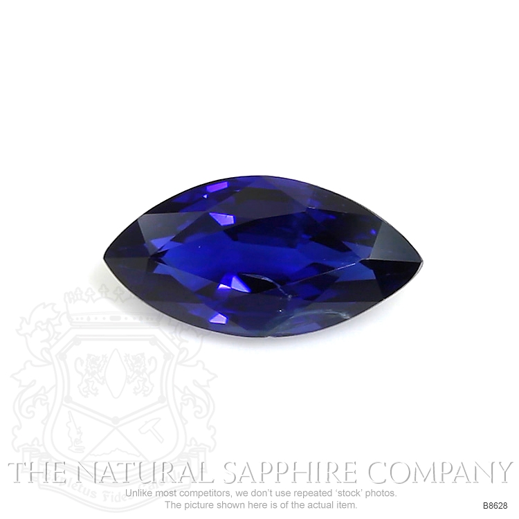 Natural Untreated Blue Sapphire B8628 Image