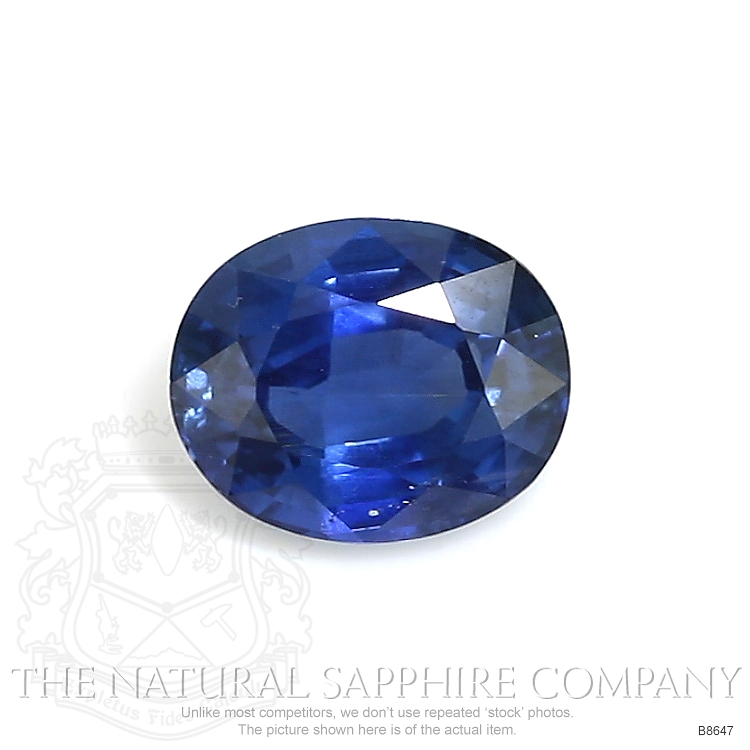 Natural Untreated Blue Sapphire B8647 Image