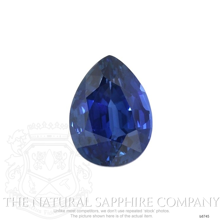 Natural Untreated Blue Sapphire B8745 Image
