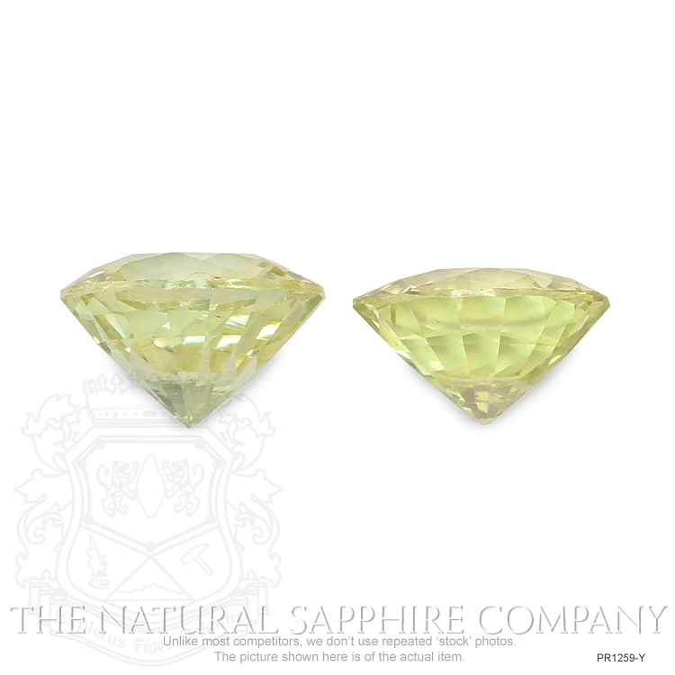 2.62ctw Natural Untreated Yellow Sapphires PR1259-Y Image 2