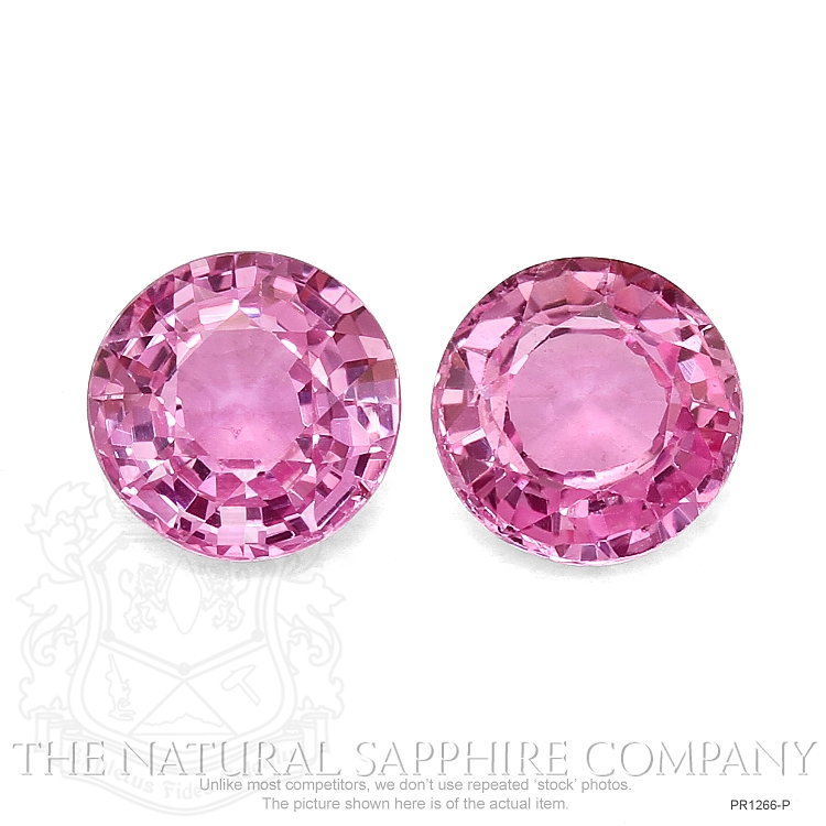 PAIR (H) PINK SAPPHIRE ROUNDS 2.57CTW PR1266-P Image