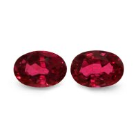 2.19ct Oval Ruby Pair - PR1279-U