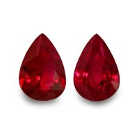 2.02ct Pear Ruby Pair - PR1294-U