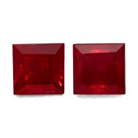 2.93ct Princess Ruby Pair - PR1312-U