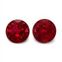 2.06ct Round Ruby Pair - PR1316-U