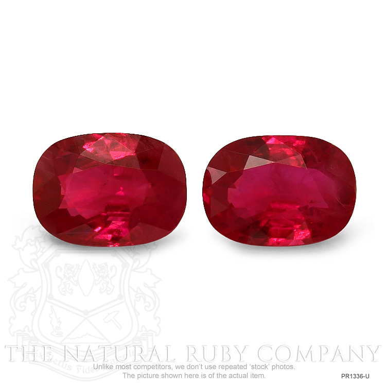 2.15ct Natural Cushion Ruby Pair PR1336-U Image