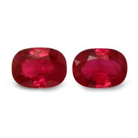 2.15ct Cushion Ruby Pair - PR1336-U