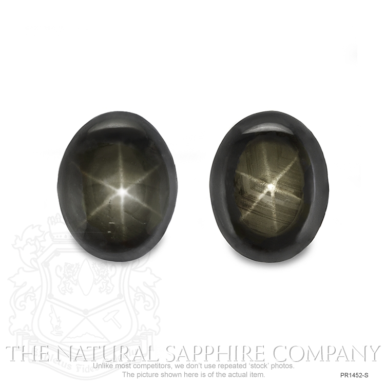 Natural Untreated Thailand Black Star Sapphire Pair PR1452-S Image