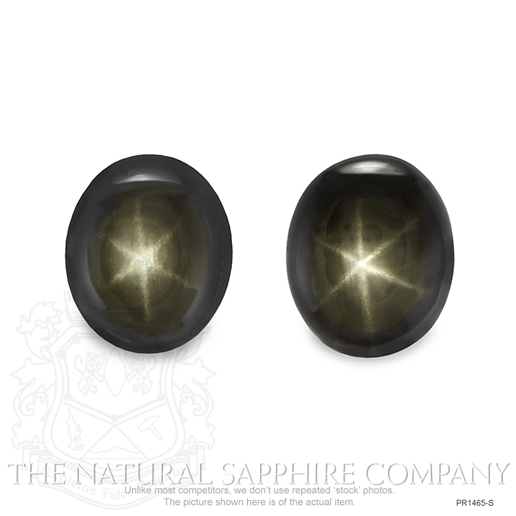 Natural Untreated Thailand Black Star Sapphire Pair PR1465-S Image