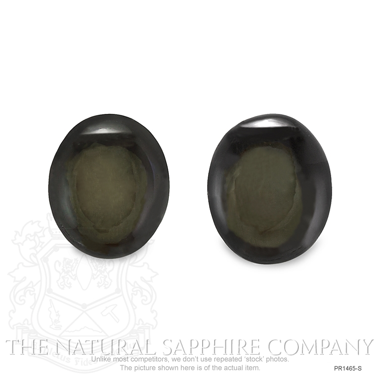Natural Untreated Thailand Black Star Sapphire Pair PR1465-S Image 2