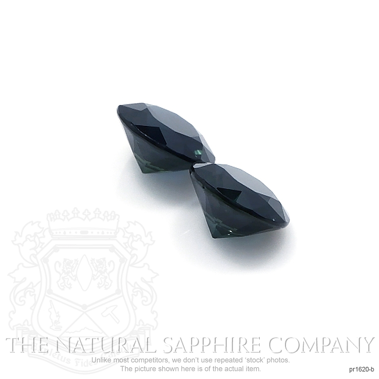 2.42ct Natural Untreated Blue Sapphire Pair PR1620-B Image 3