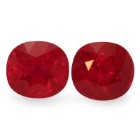 6.91ct Cushion Ruby Pair - PR1632-U
